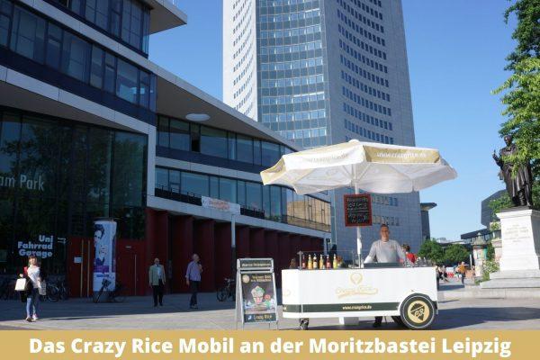Das Crazy Rice Mobil an der Moritzbastei Leipzig